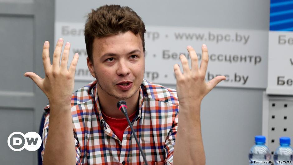 Belarus parades 'hostage' Pratasevich before press yet again