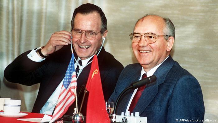 Пресс-конференция Джорджа Буша и Михаила Горбачева по итогам саммита