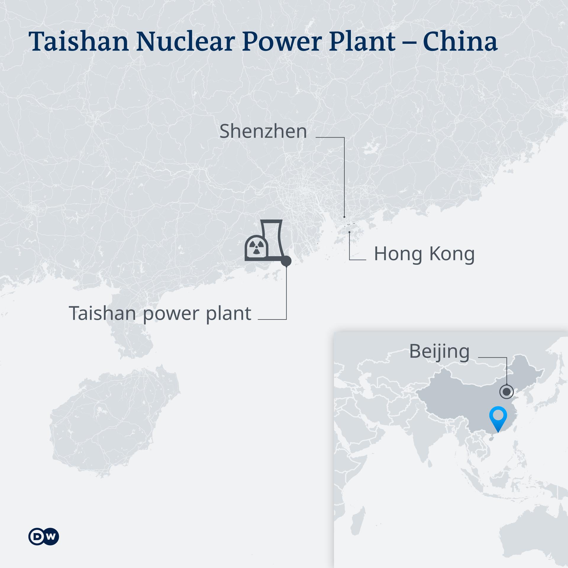 Karte Kernkraftwerk Taishan China EN