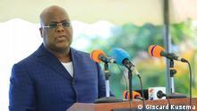 14.06.2021 Präsident Felix Tshisekedi, der am 14. Juni 2021 in Goma, im Osten seines Landes, angekommen ist