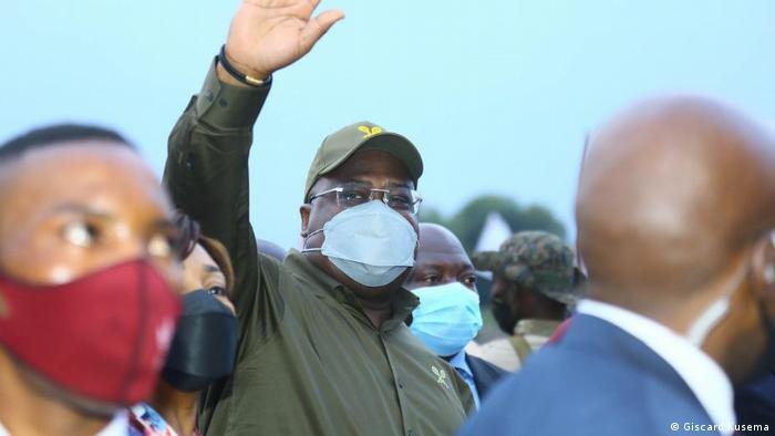 DR Kongo Goma   Besuch Präsident Felix Tshisekedi