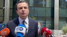 Treffen Vucic Kurti in Brüssel. Diskussion über den Kosovo Serbien Vertrag.
