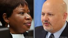 Bildkombo Internationaler Strafgerichtshof Fatou Bensouda und Nachfolger Karim Khan