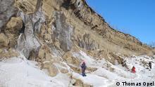 Sibirien Batagai Permafrost Abbruch