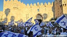 Israel l ultranationalistischer Fahnenmarsch in Jerusalem