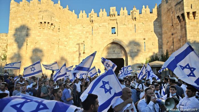 Марш ультранационалистов в Старом городе Иерусалима
