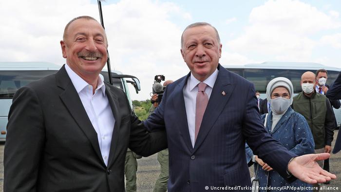 Berg-Karabach l Aserbaidschan und Türkei l Präsident Aliyev und Präsident Erdogan