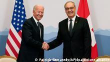 Vor Biden Putin Gipfel in Genf | JoeBiden und Guy Parmelin