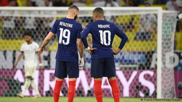 ملیپوشان فرانسه پنج دقیقه مانده به پایان بازی در پی یک ضدحمله به موقعتی استنثنایی دست یافتند و بار دیگر توپ را درون دروازه آلمان جای دادند، اما داور پس از کنترل تصاویر ویدیویی بار دیگر سوت آفساید زد و نتیجه بازی همچنان یک بر صفر ماند.