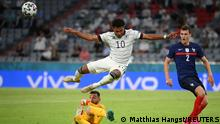 Soccer Football - Euro 2020 - Group F - France v Germany - Football Arena Munich, Munich, Germany - June 15, 2021 Germany's Serge Gnabry in action with France's Hugo Lloris Pool via REUTERS/Matthias Hangst