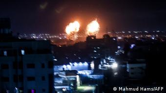 Израиль наносит удары по сектору Газа, 16 июня 2021 года