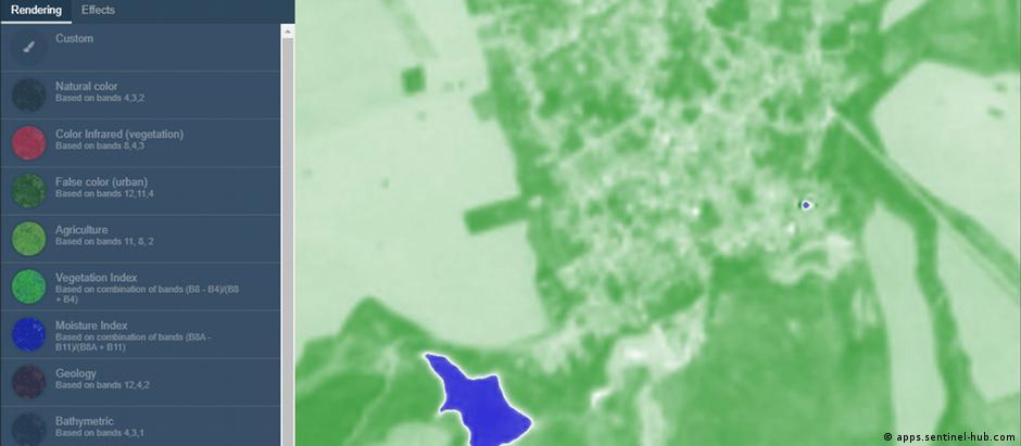 Сателитна снимка показва наличието на вода (в синьо) само в един от трите язовира Злати войвода