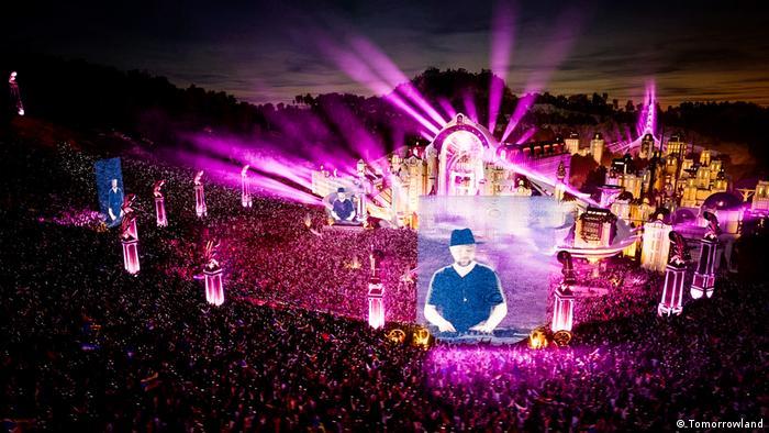 Danish DJ Kölsch on stage at Tomorrowland in 2020