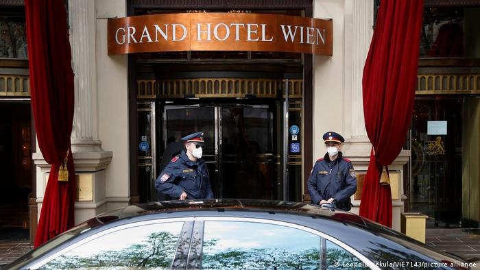 The Grand Hotel in Vienna, where nuclear talks are taking place.