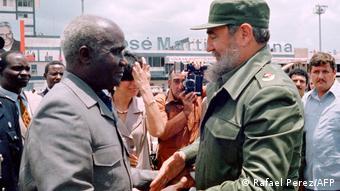Kuba | Sambias Präsident Kaunda und Fidel Castro