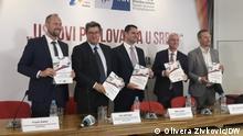 Serbien Pressekonferenz der Deutsch-Serbischen Wirtschaftskammer in Belgrad