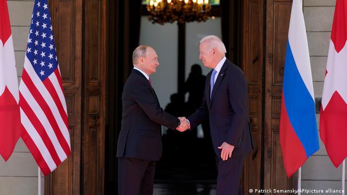 President Joe Biden and Russian President Vladimir Putin.