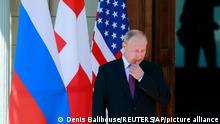 Russia's President Vladimir Putin, arrives for the U.S.-Russia summit with U.S. President Joe Biden, at Villa La Grange in Geneva, Switzerland, Wednesday, June 16, 2021. (Denis Balibouse/Pool Photo via AP)