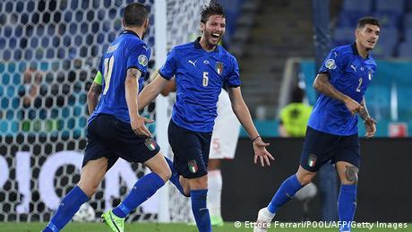Italien Rom   UEFA Euro 2020   Tor für Italien