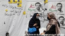 TEHRAN, IRAN - JUNE 14: Women are seen near the Grand Bazaar in the Iranian capital Tehran on June 14, 2021 ahead of presidential elections. Fatemeh Bahrami / Anadolu Agency