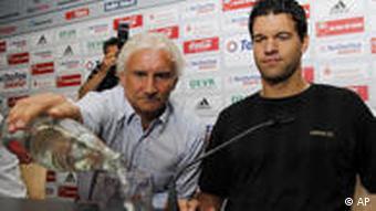 Rudi Völler with Michael Ballack
