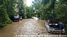 Krim   Überschwemmung in Kertsch