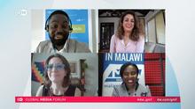 "DW Akademie Screenshot GMF Session ""Information saves lives"""