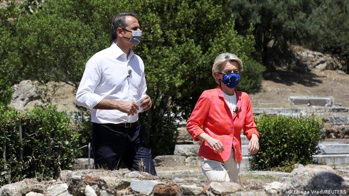 Griechenland Athen | Ursula von der Leyen trifft Kyriakos Mitsotakis