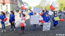 Protest polnischer katholischen Gemeinde Wiesbaden vor dem Bistum Limburg