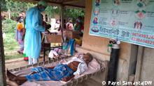 Dr Ajay Mistry, a covid warrior, has reached the remote villages to treat corona patients. His humanity trust is doing a tremendous job in covid management in rural Bengal. Keywords: Covid, Pandemic, Doctor, Humanity Trust, Village, Oxygen, Food, Rural Where it was take: West Bengal ++++ Pic 1 Patients are being treated in mobile hospital