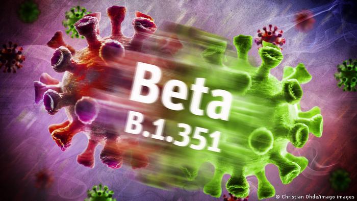 Ilustração simbólica mostra dois vírus se chocando