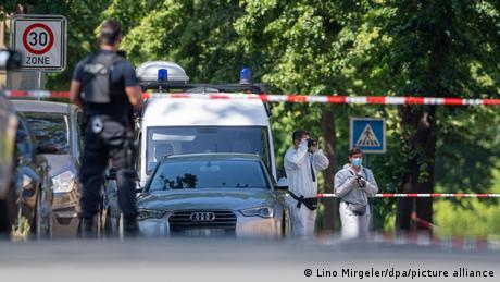 موقع الجريمة في حادثة إطلاق نار في بلدة إسبلكمب شمال غرب ألمانيا
