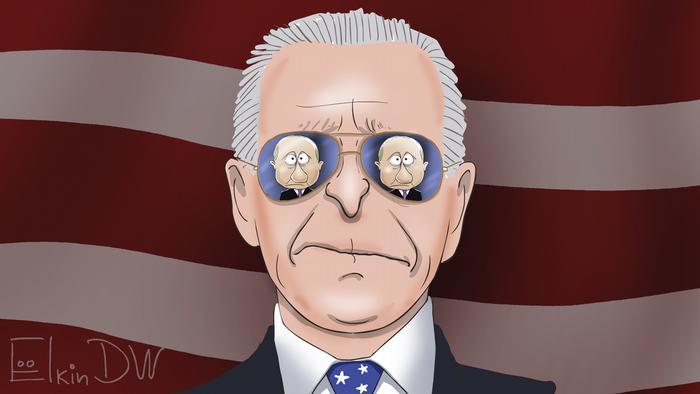 Karikatur Sergey Elkin | Biden und Putin Treffen