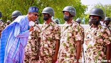 Der nigerianische Präsident Buhari besucht den Bundesstaat Borno