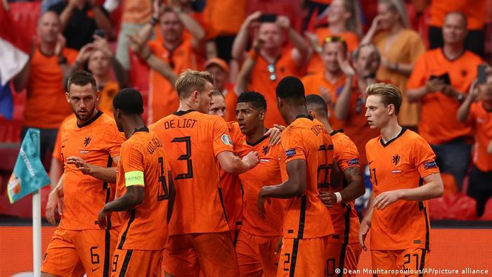 Збірна Нідерландів під час матчу з командою Австрії