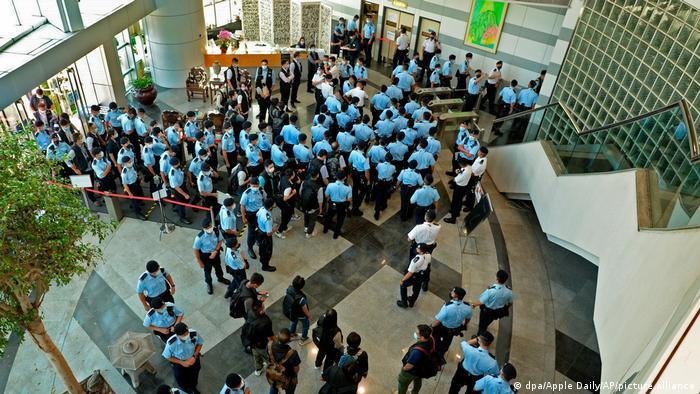 Weltspiegel 18.06.2021 Hongkong Durchsuchung Apple Daily