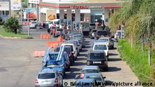 (210526) -- BEIRUT, May 26, 2021 (Xinhua) -- Cars wait in line in front of a petrol station in Beirut, Lebanon on May 26, 2021. The Lebanese rushed on Wednesday to gas stations out of fear of a rise in prices of gasoline by the end of May. (Xinhua/Bilal Jawich)
