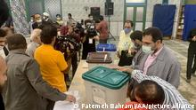 TEHRAN, IRAN - JUNE 18: Electoral officials prepare ballot boxes and ballot papers ahead of Iranian presidential election, in Tehran, Iran on June 18, 2021. Fatemeh Bahrami / Anadolu Agency
