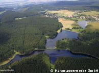 Вид на  800-летнюю систему водозаборных сооружений в верховьях Гарца