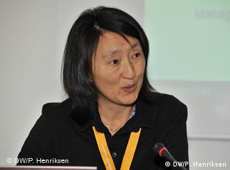 Pema Choden, managing director of Bhutan's Broadcasting Service (BBS), at the Global Media Forum