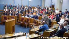 Montenegro Sitzung im Parlament
