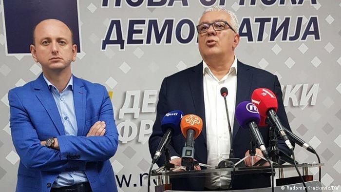 Montenegro | Demokratische Front Montenegro | Andrija Mandić and Milan Knežević