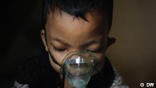 Zidan ist fünf Jahre alt und leidet an Asthma. Eine Folge der schlechten Luft in der indonesischen Hauptstadt Jakarta. Rechte: für diesen Beitrag gegeben.