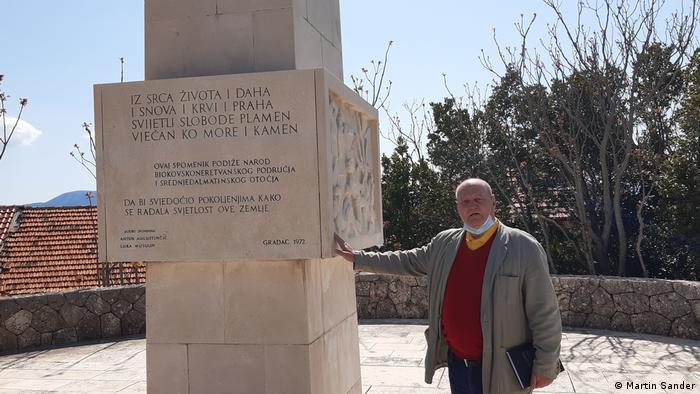 Kroatien Partisanendenkmälern Autor und Aktivist Vedran Srsen (Vedran Sršen)