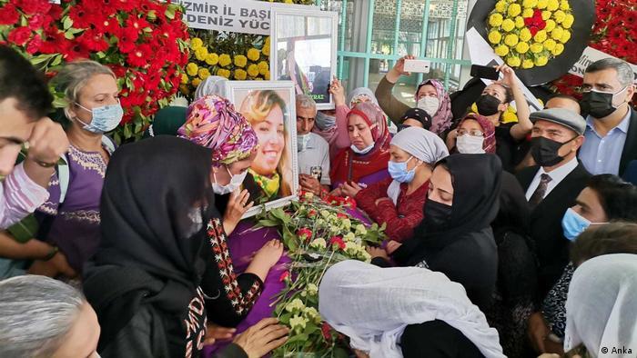 Pokop ubijene djelatnice HDP-a