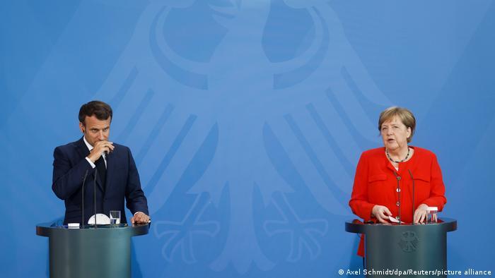 Merkel und Macron bei der Pressekonferenz
