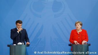 Deutschland Treffen Merkel und Macron in Berlin