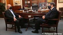 14/6/2021+++President Anastasiades and Christos Christou.