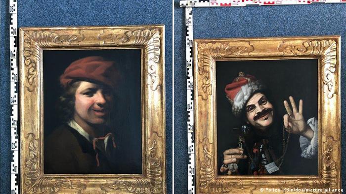 Две картины XVII века, найденные в мусорном контейнере возле автобана