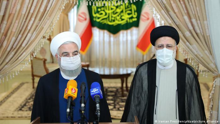Iran Teheran   Hassan Rohani, Präsident & Ebrahim Raeissi, gewählter neuer Präsident